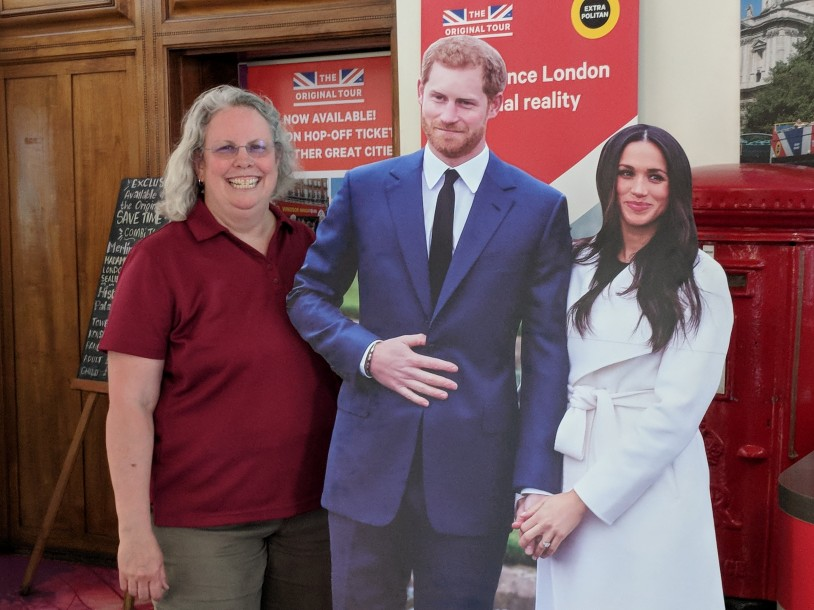 Me and my new friends, Harry and Meghan ;)