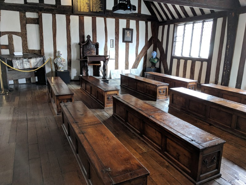 One classroom had only benches...designed for memorization, recitation, and dramatization...perhaps where the bard got his start.