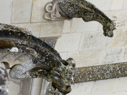 A close up of those gargoyles. You can better see their purpose here!
