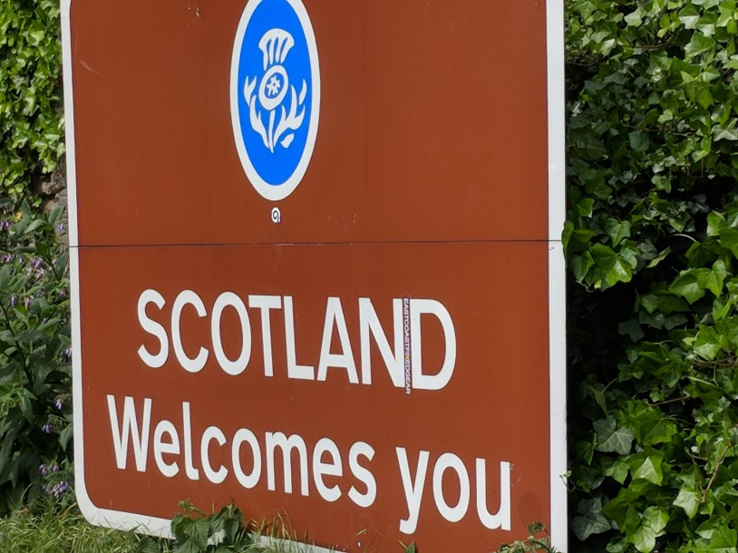 Entering Scotland from England