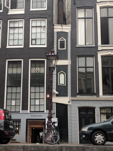 The narrowest house in Amsterdam...one window wide! If you want to sleep in a double bed, you're out of luck!