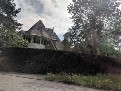 Some Dutch homes still have the traditional thatched roof.