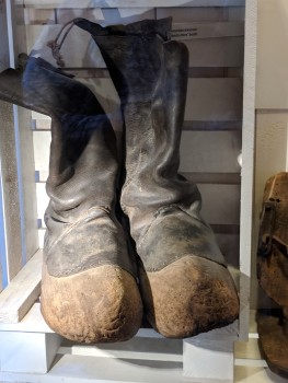Even rubber boots were wooden!