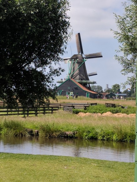 The windmills of Holland, which is a region of The Netherlands, not the name of the country!