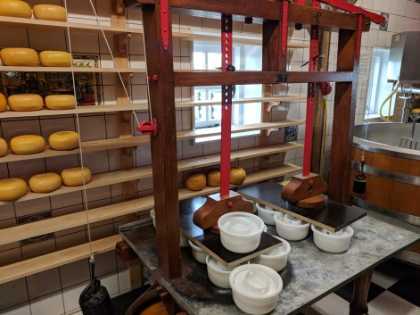 Dutch cheese factory