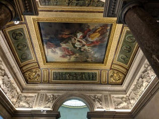 A perfect place to put a painting: The ceiling!