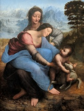 I fell in love with this Da Vinci painting. It's so real...like a photograph.