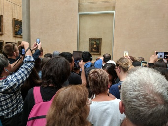 You can see the Mona Lisa up close