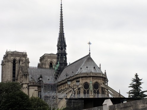 A better view of the flying buttresses of Notre Dame