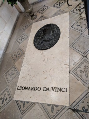 Leonardo's grave in the Chapel d'Amboise