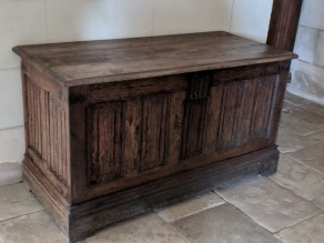 This is an example of the chests used by servants to pack all of the belongings of the king to travel to the next chateau.