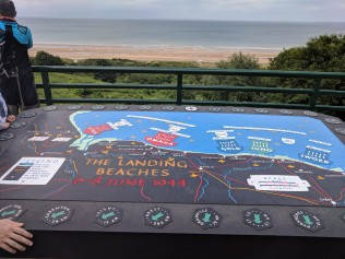 The landing beaches of the allied forces