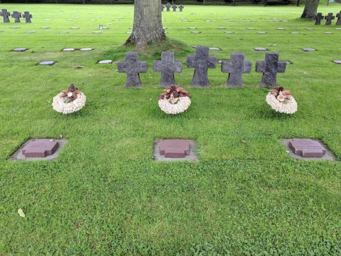 There may not be a cross for every German soldier buried, but there is a gravestone for each one.