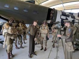 A model of General Eisenhower encouraging the men