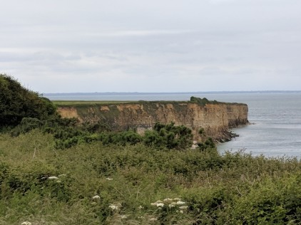 Cliffs scaled by the Allied forces