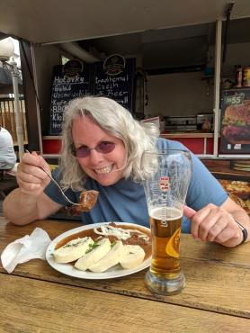 Czek Goulash and beer