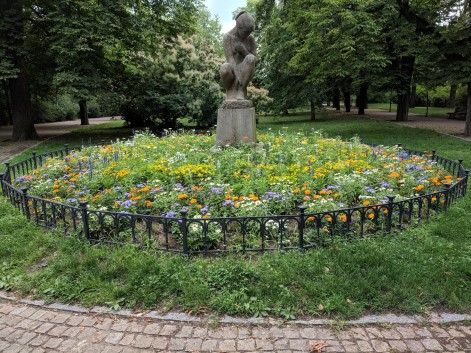 Prague had a beautiful park overlooking the city and dotted with gardens.