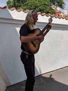 We heard a musician around every corner.