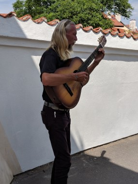 We heard a musician around every corner.