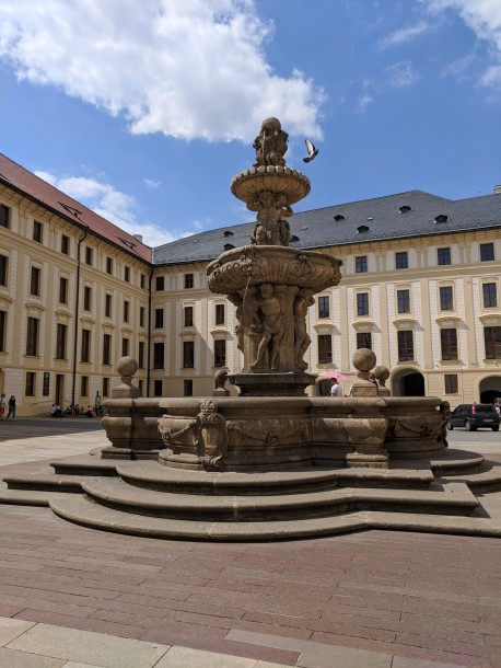 Prague Castle is really a compound o buildings housing the government of the Czek Republic.