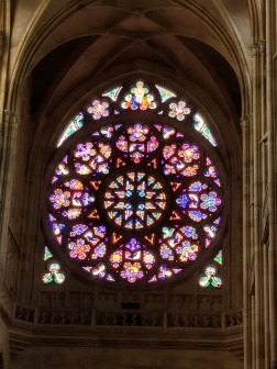 Beautiful rose window at St. Vitrus Cathedral