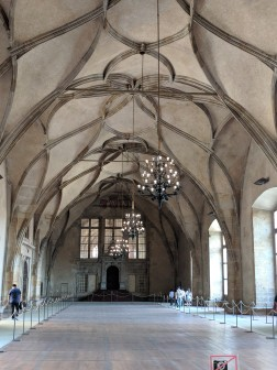 Castle's great hall, used mostly for coronations and jousting tournaments!