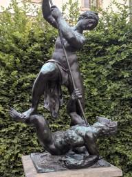 Sculptures were everywhere in the garden.