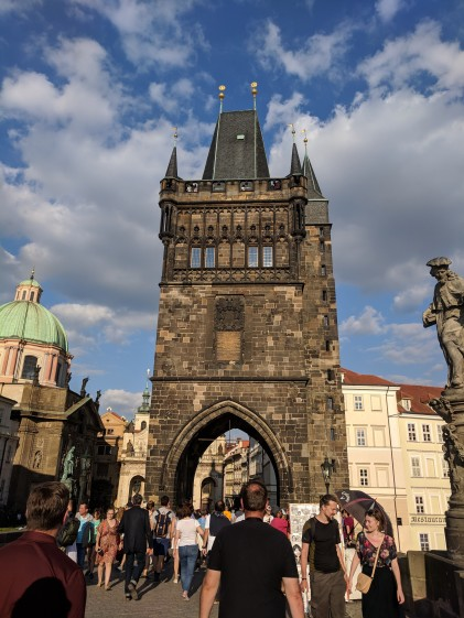 Tower entrance to the Charles Bridge