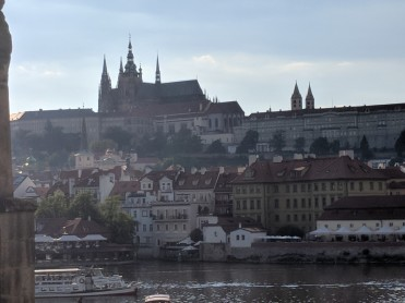 The view from the Charles Bridge
