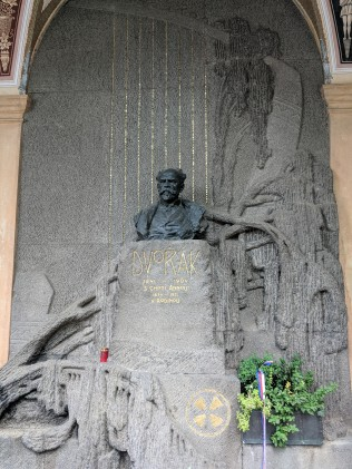 The great composer Dvorak is buried at Vy