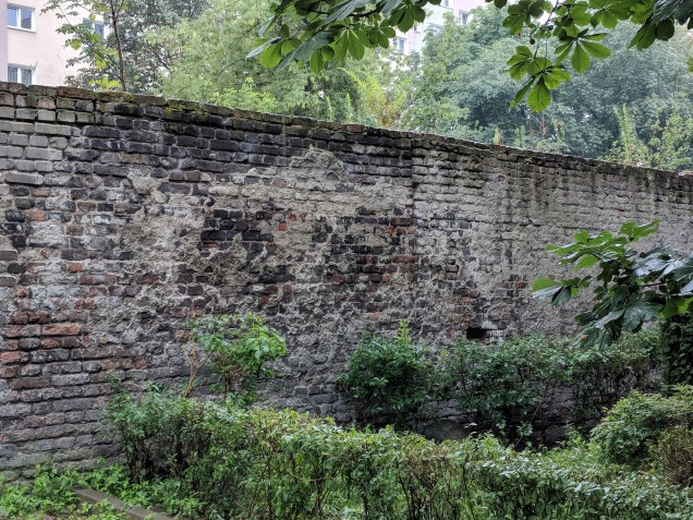The wall to the Jewish ghetto