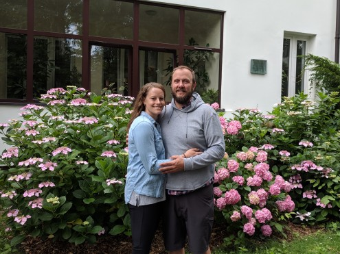 Savanna and Jason in front of the Zabinski home. The trip to Warsaw was their idea. Awesome.