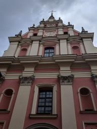 The beautiful rebuilt Jewish synagogue