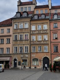 Old Town Warsaw, completely rebuilt as it was before