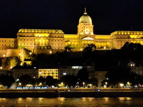 Budapest is beautiful at night.