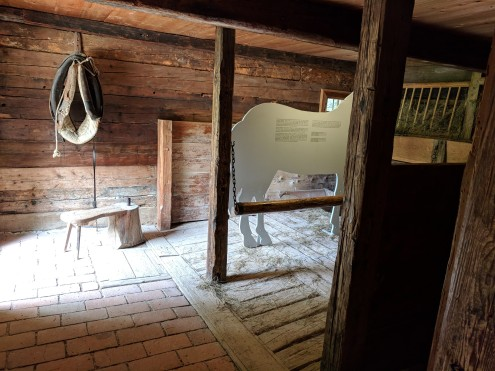 This horse's stall was INSIDE the house. The horse was a constant companion to the farmer, so he got his own room!
