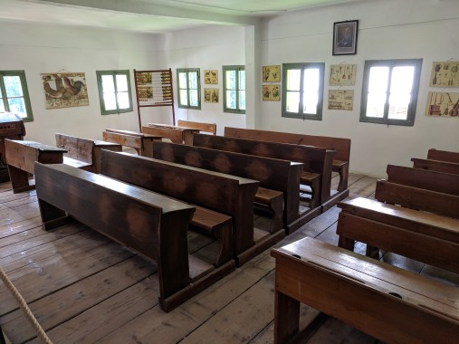 This school room was IN the teacher's home.
