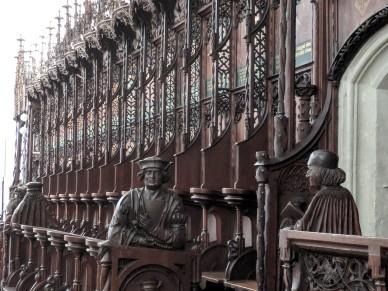 The choir loft of the church
