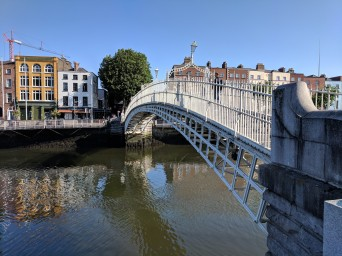 Ha' Penny Bridge over the River Liffey