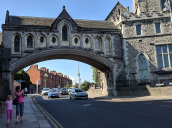 Christ Church's bridge to Dublinia, now a museum