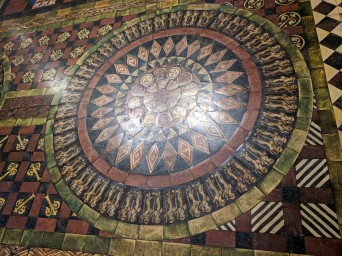 The floor was amazing. It had 65 different designs In different places.