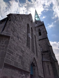 The new glass steeple