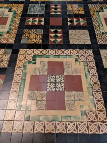 The floor of St. Patrick's Cathedral is intricate mosaic