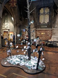 We added two leaves to the tree honoring those affected by conflict