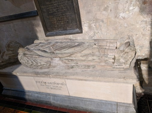 The grave of Jonathan Swift, author of Gulliver's Travels