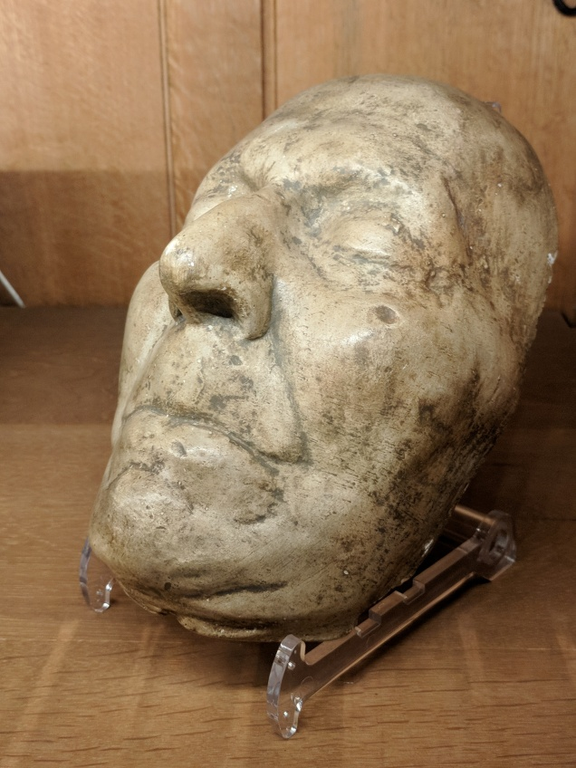 The death mask of Jonathan Swift