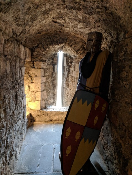 Perfect example of an arrow slit to defend a castle