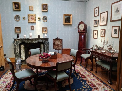 One of the sitting rooms at Kilkenny