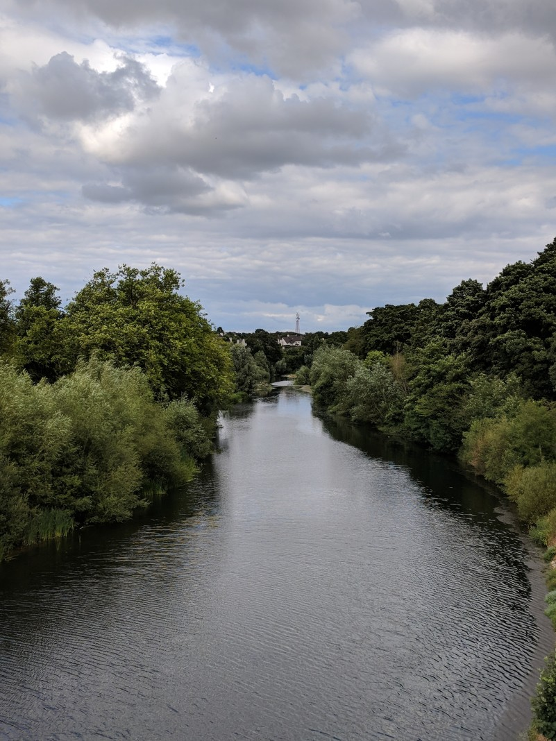 The river outside of Kilkenny. It served as one side of the moat.
