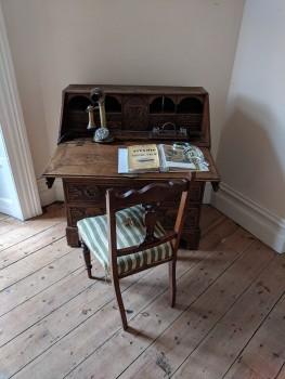 A children's desk in the castle